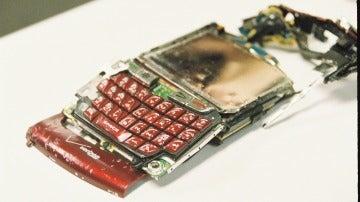 Una BlackBerry destrozada