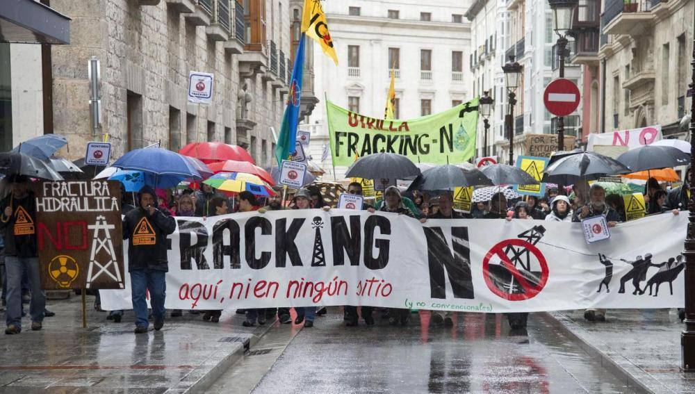 Manifestación contra el fracking.