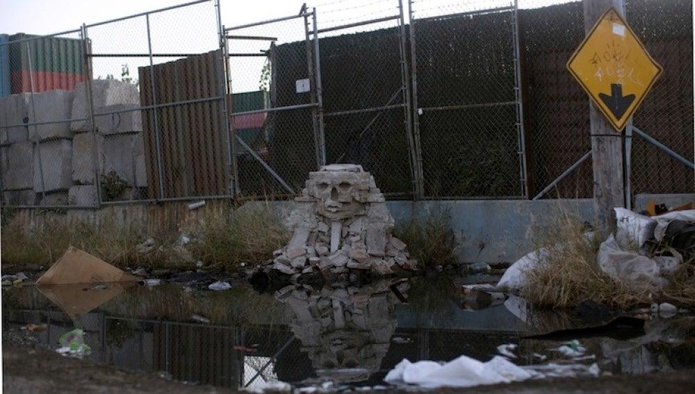 Obra de Banksy en NY el 23-10-2013
