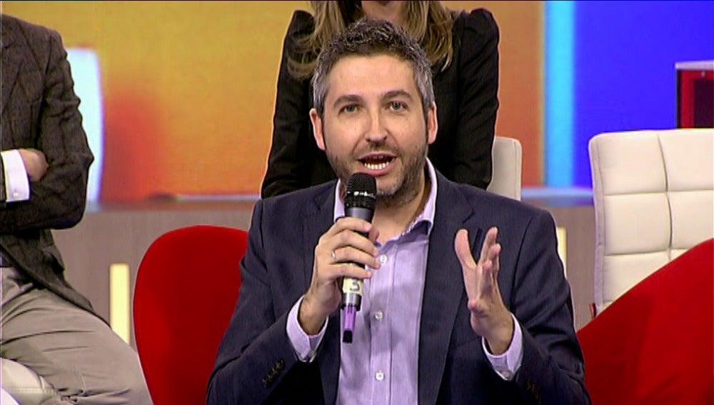 Frank Blanco en la presentación de Zapeando