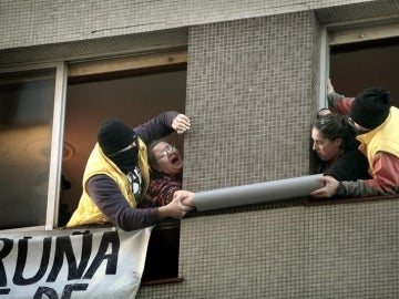 Desahucio con seis detenidos en A Coruña