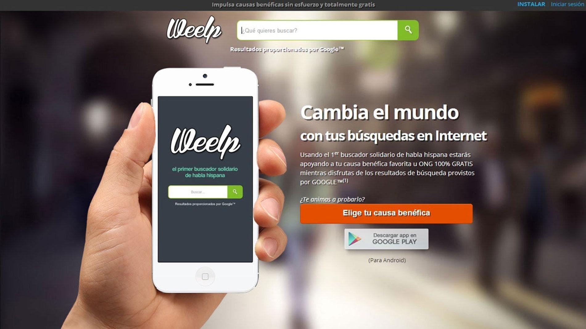 Weelp, el buscador solidario