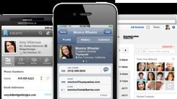 Captura de la aplicación para smartphones Xobni