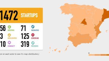 Mapa de startups españolas