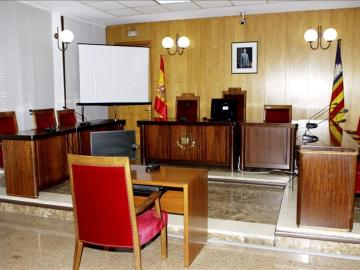 Sala en el Juzgado de Palma