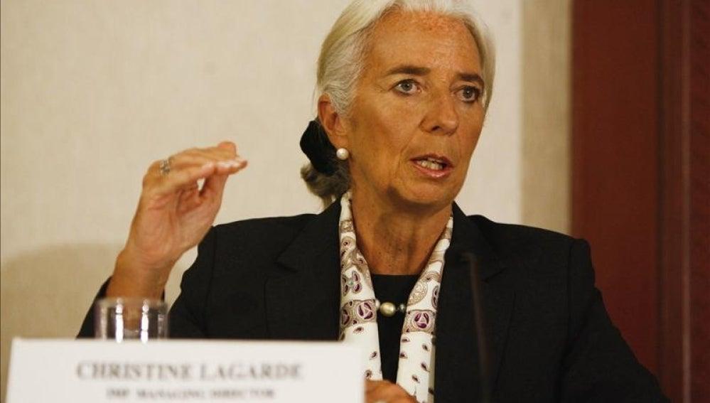 La directora del FMI, Christine Largarde.