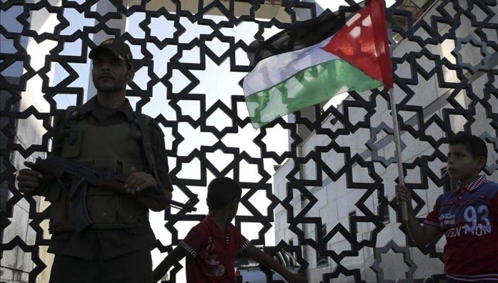 Imagen de un miembro de las fuerzas de seguridad de Hamás