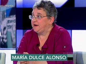 María Dulce, fundadora de los Yayoflautas en Madrid