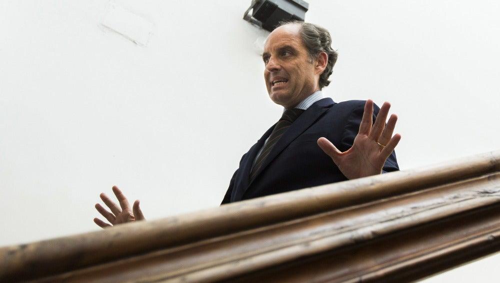 El expresidente de la Generalitat valenciana Francisco Camps, tras testificar por el 'caso Nóos'