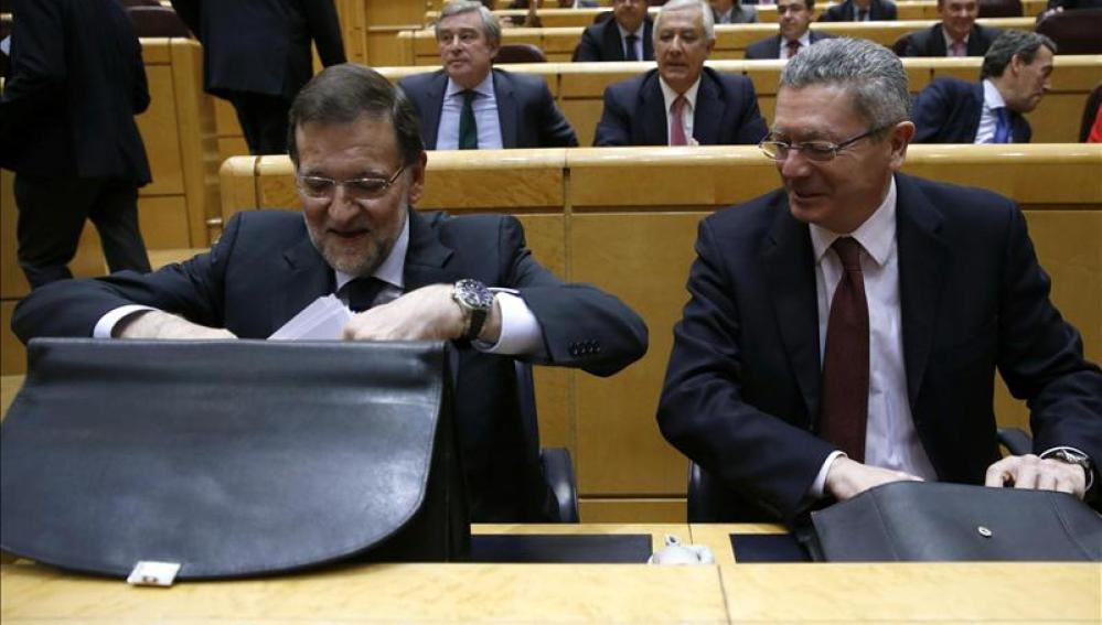 Gallardón y Rajoy en el senado