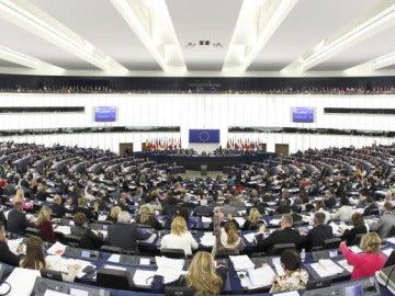 Sesión en el Parlamento Europeo