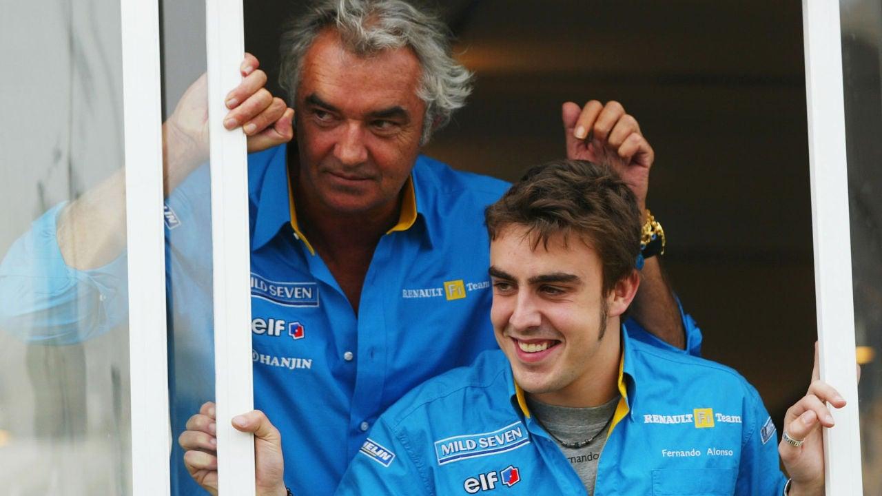 Alonso y Briatore, en 2003