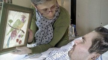 Imagen de archivo de Vincent Lambert y su madre