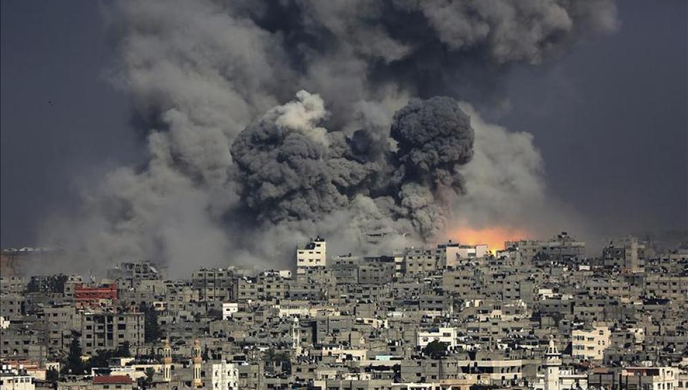 Bombardeo sobre Gaza el 29 de julio