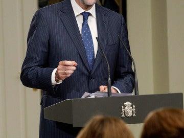 Mariano Rajoy, durante la rueda de prensa