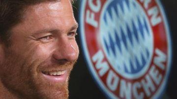 Xabi Alonso, durante su presentación con el Bayern