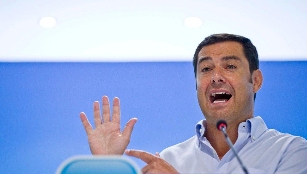 Juan Manuel Moreno, presidente del PP de Andalucía