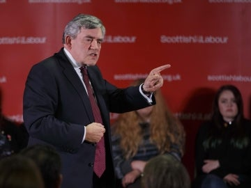 El ex primer ministro británico Gordon Brown