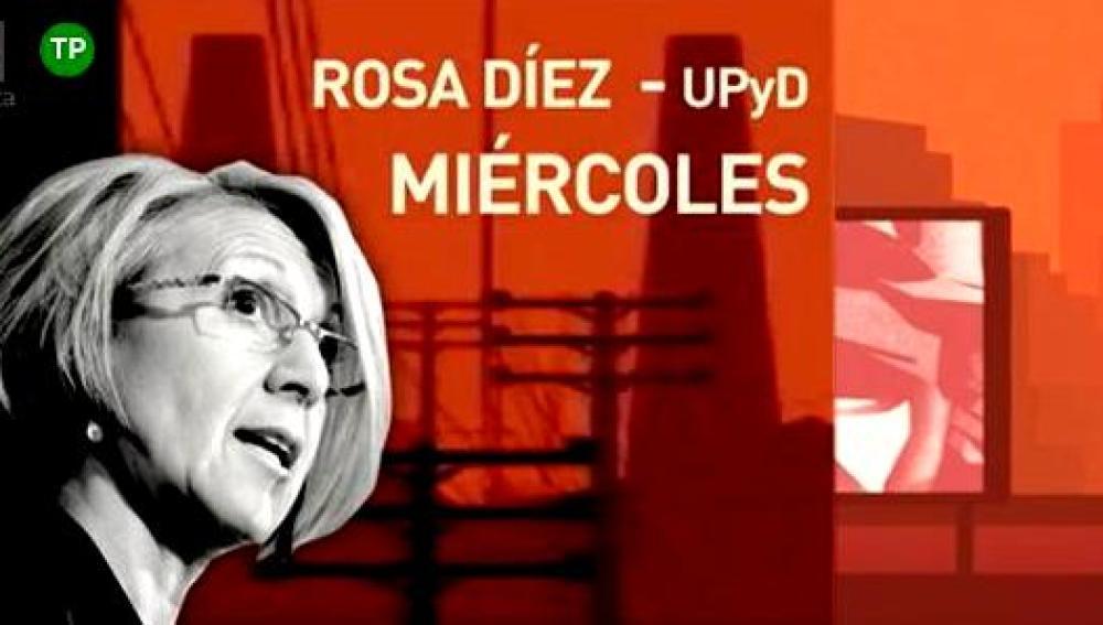 Rosa Díez, este miércoles en ARV