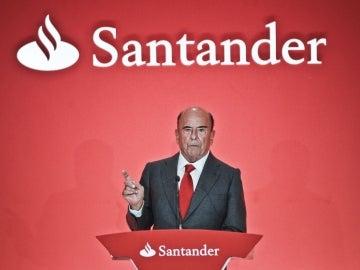 El presidente del Grupo Santander, Emilio Botín