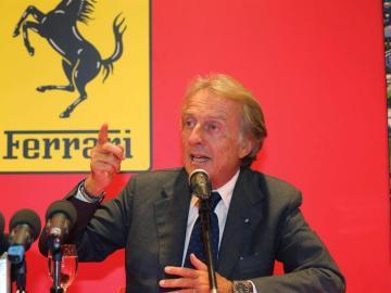 El presidente de Ferrari, Luca Cordero di Montezemolo, en la rueda de prensa en Maranello