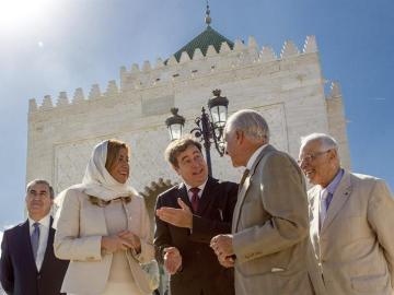 Susana Díaz, durante su visita al mausoleo de Mohamed V