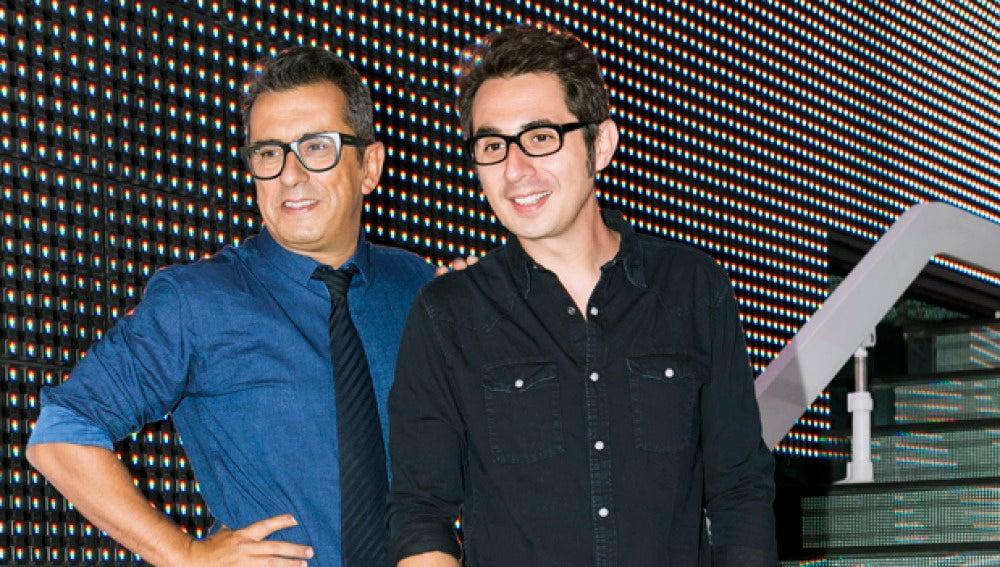 Buenafuente y Berto Romero presentan la nueva temporada de En el aire