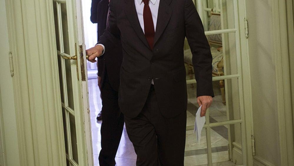 Alberto Ruiz-Gallardón, entrando al Ministerio de Justicia