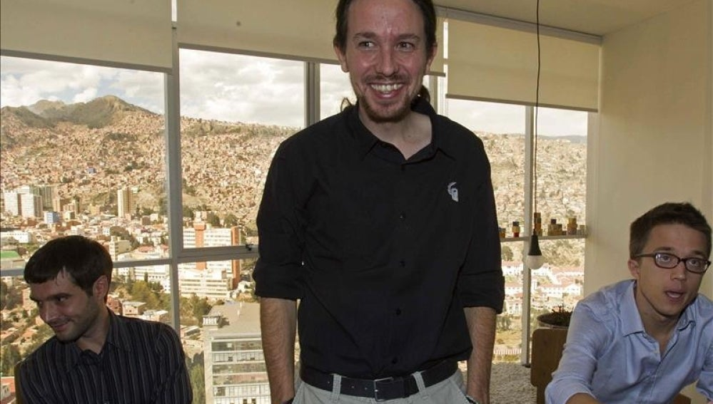 Pablo Iglesias e Íñigo Errejón, en La Paz