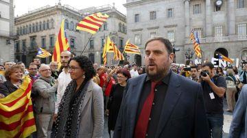 Los líderes de ERC Oriol Junqueras y Marta Rovira, en una foto de archivo
