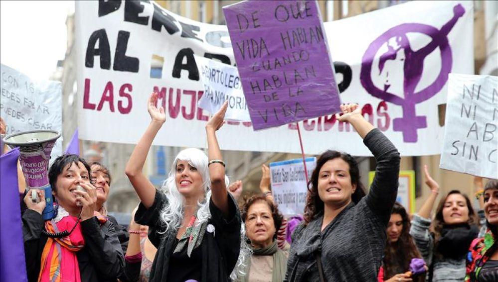 Imagen de archivo de una manifestación por un aborto libre
