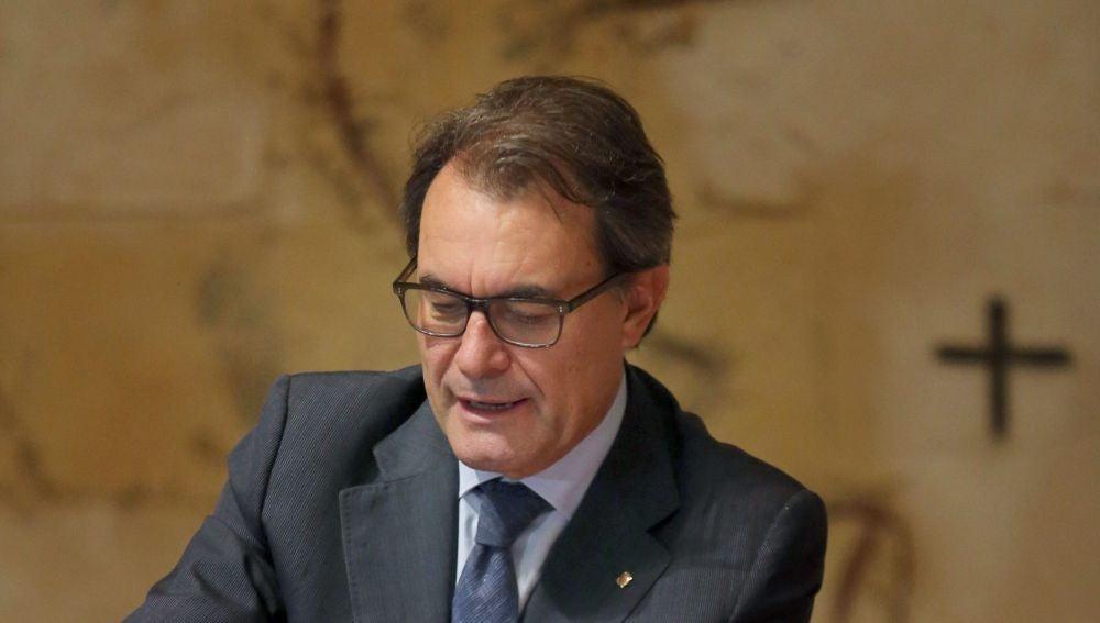 Artur Mas en la reunión semanal del Govern