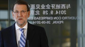 Mariano Rajoy en su viaje a China