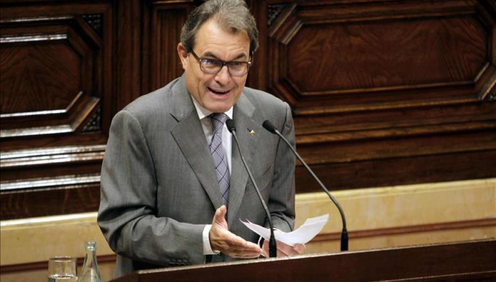 Artur Mas en el Parlament catalán