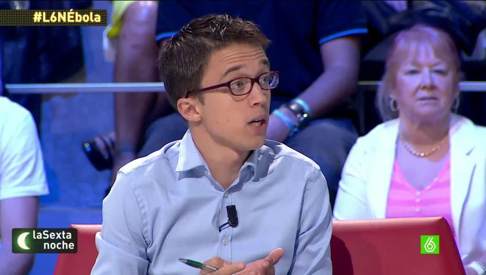 """Íñigo Errejón: """"Tenemos un Gobierno que improvisa y que, cuando las cosas salen mal, echa la culpa a otro"""""""