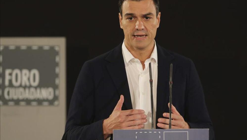 Pedro Sánchez en un acto público