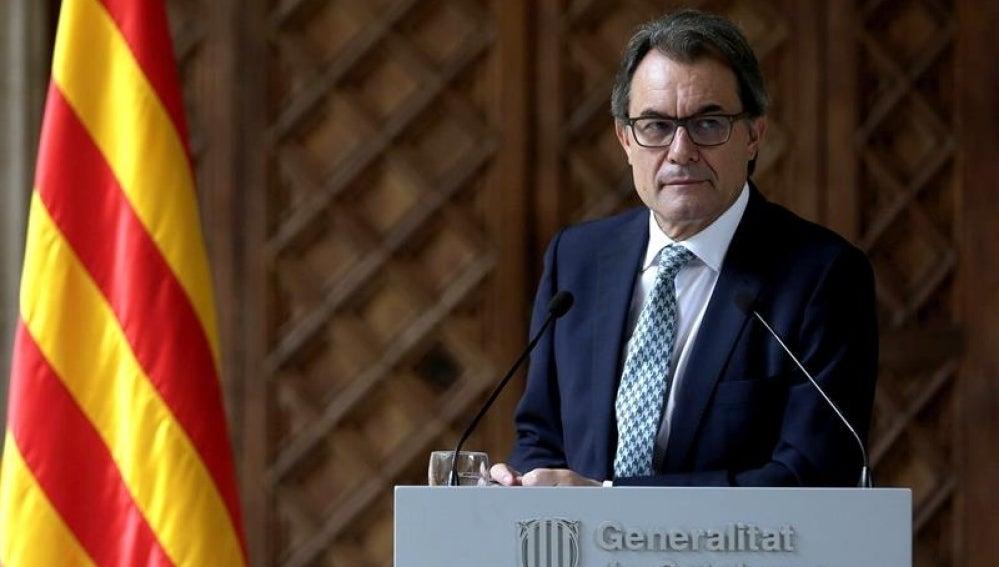 El presidente de Cataluña, Artur Mas