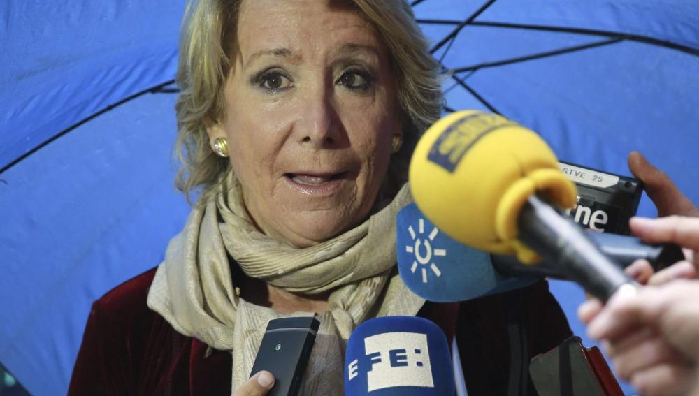 La presidenta del PP de Madrid, Esperanza Aguirre