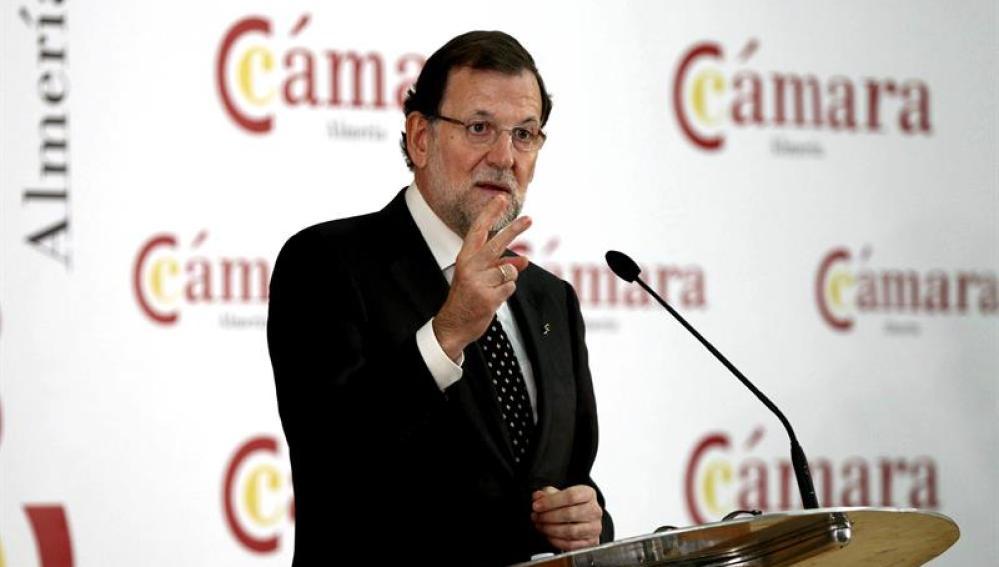 Mariano Rajoy, en su conferencia en Almería