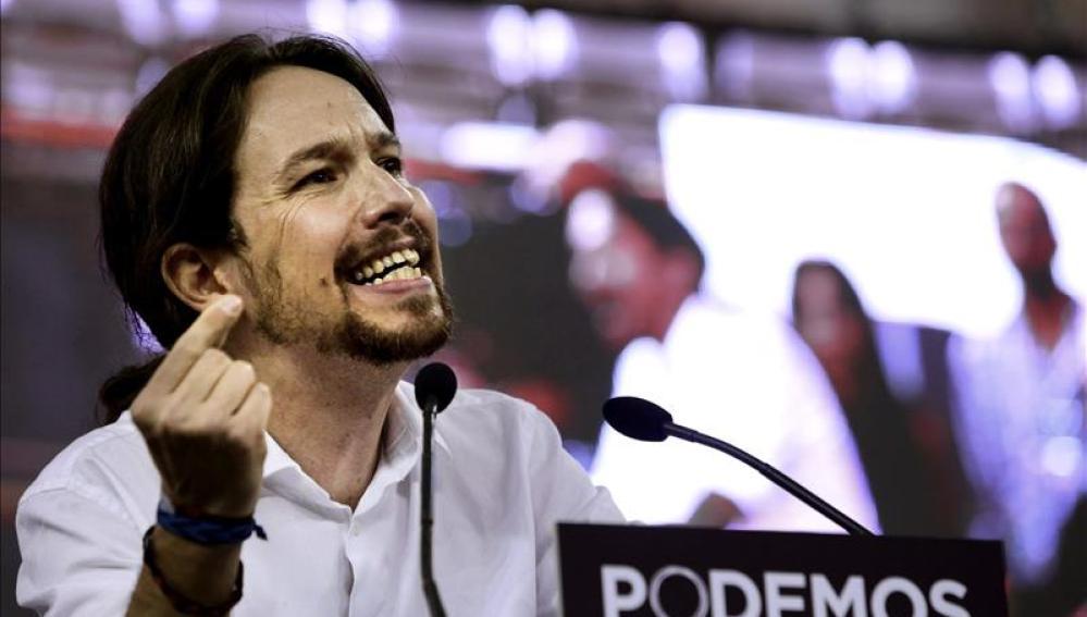 """El líder de Podemos, Pablo Iglesias, interviene en la Asamblea Ciudadana """"Sí Se Puede"""""""