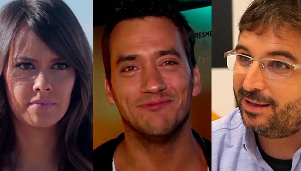 Cristina Pedroche, Jordi Évole y Yayo Daporta, este domingo en 'La escalera'
