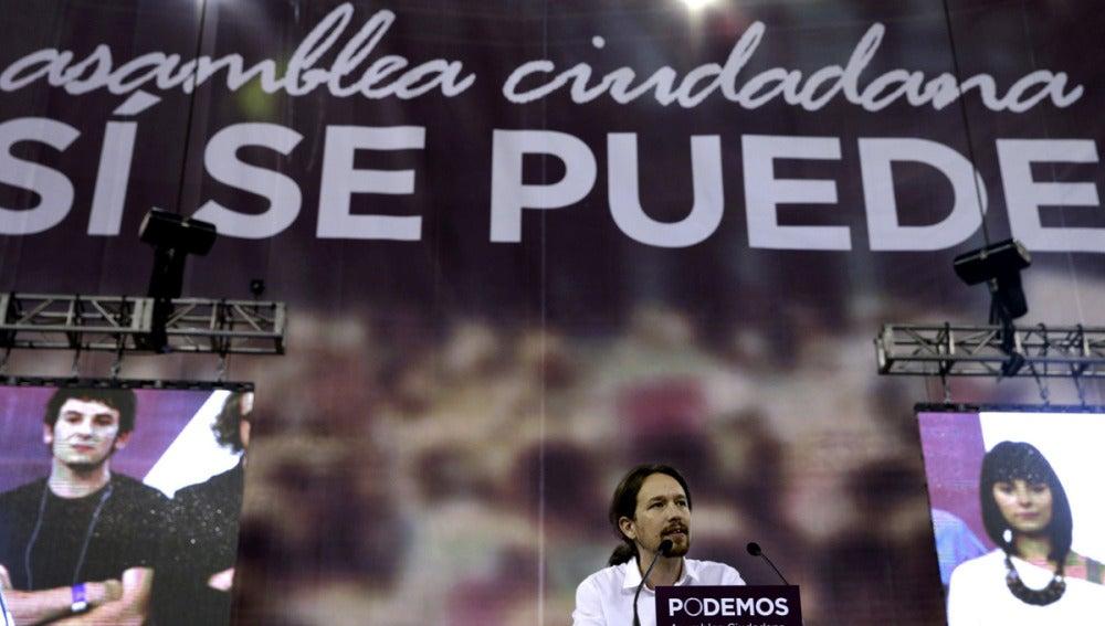 Pablo Iglesias, en Vistalegre