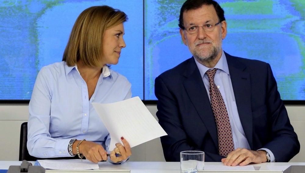 Cospedal y Mariano Rajoy