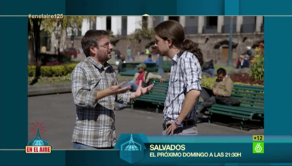 Jordi Évole y Pablo Iglesias