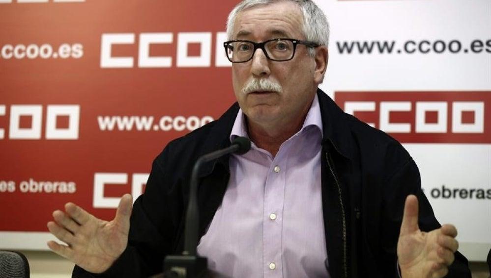 Ignacio Fernández Toxo en rueda de prensa