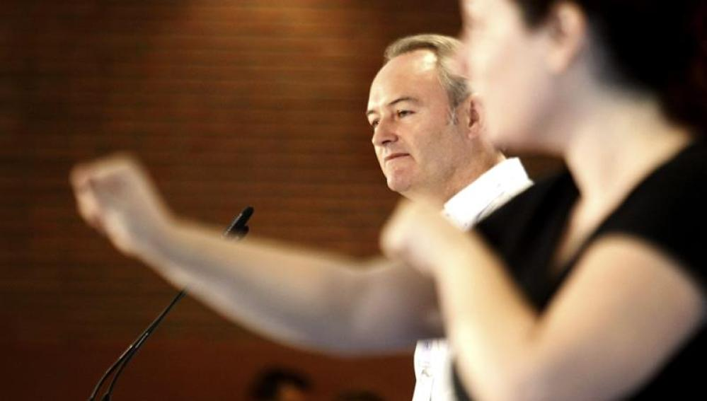 Alberto Fabra, en una sesión parlamentaria