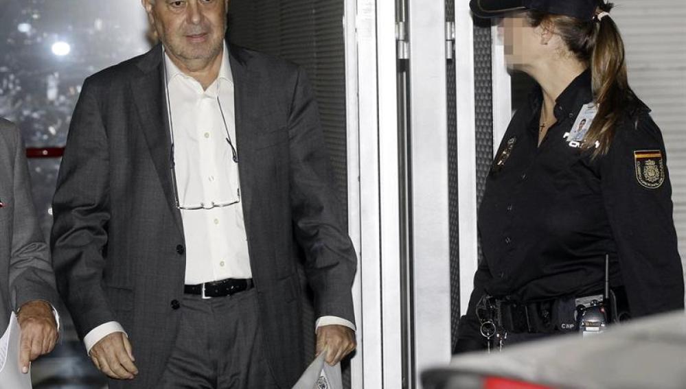 José Martínez Nicolás sale de la Audiencia Nacional