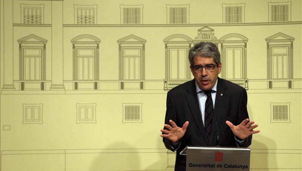 El conseller de Presidencia y portavoz del Govern, Francesc Homs