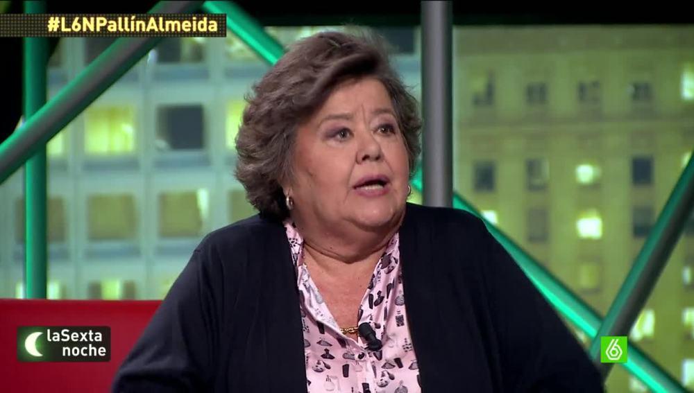 """Cristina Almeida: """"Que no nos cuenten cuentos. El equipo de Aguirre estaba implicado y ella era la responsable"""""""