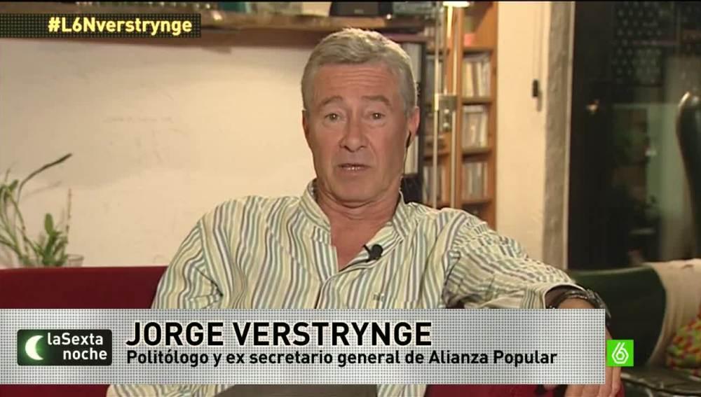 """Jorge Verstrynge: """"Quien gobierna de facto en España es una coalición PP-PSOE"""""""